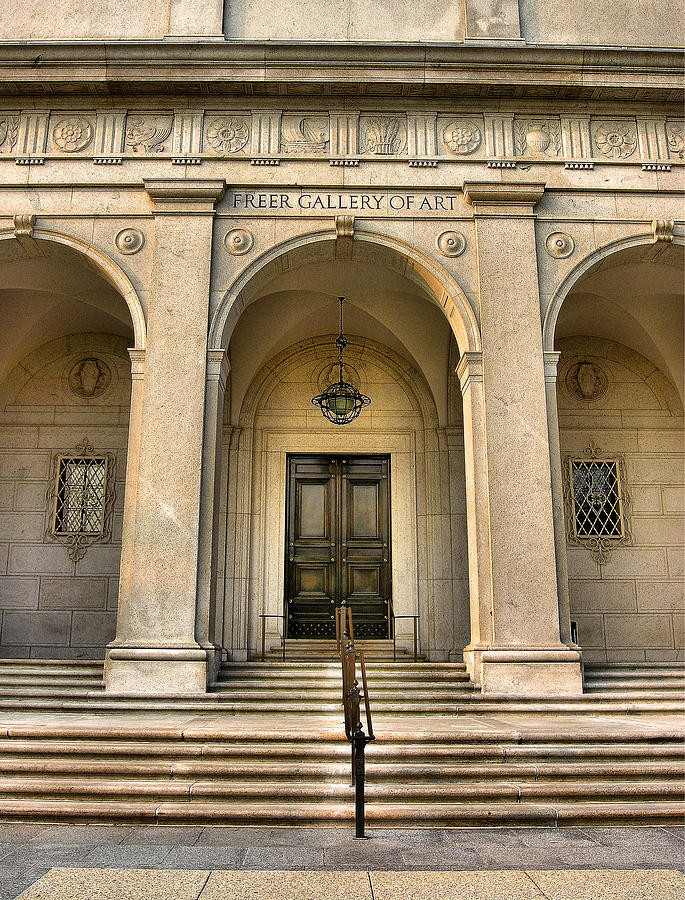 Door Photograph - Freer Gallery Entrance by Steven Ainsworth
