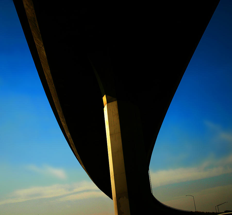 Photo Pyrography - Freeway Overpass I by Bryan Dechter