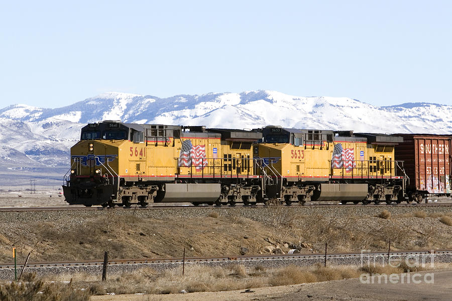 United States Photograph - Freight Train East Of Boise by David R Frazier and Photo Researchers