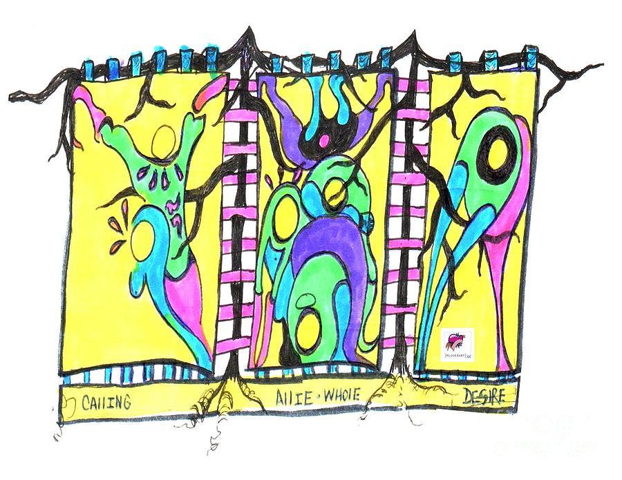Figures Drawing - Freindship by Carol Rashawnna Williams