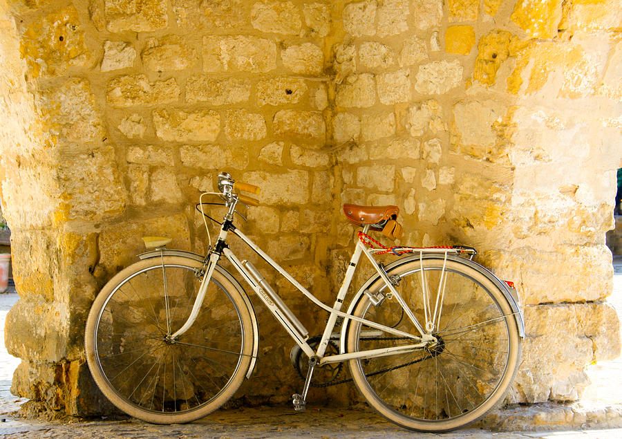 Vintage Bicycle Photograph - French Bicycle by Georgia Fowler