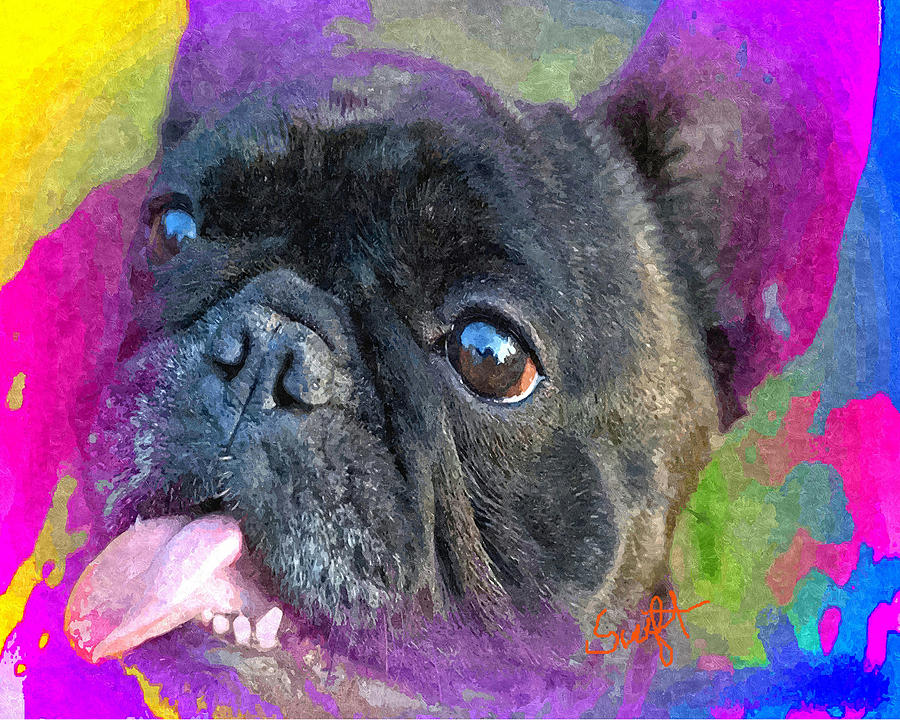 Dog Painting - French Bulldog by Char Swift