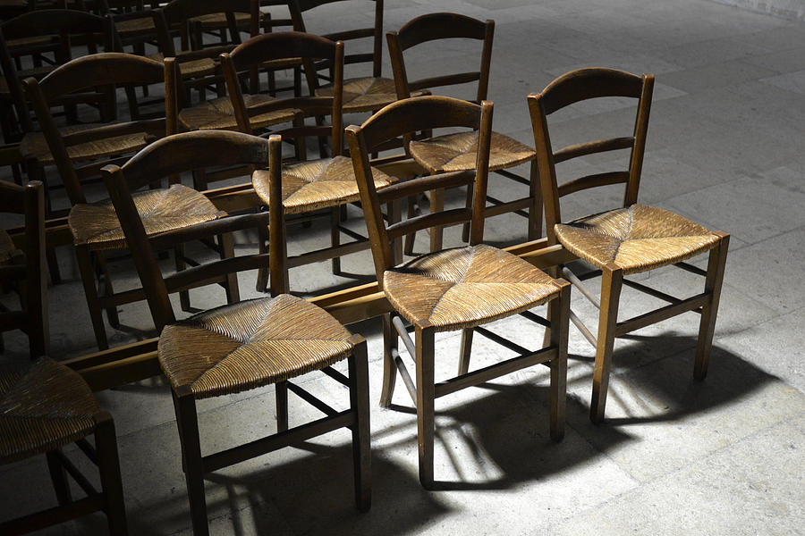 France Photograph - French Chairs by Dickon Thompson