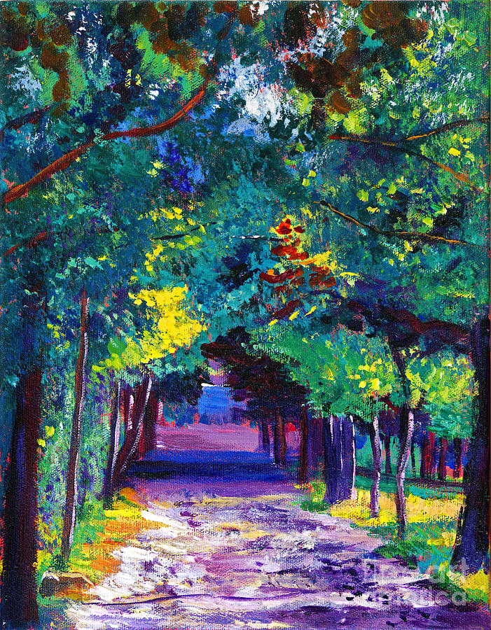 Landscape Painting - French Country Road by David Lloyd Glover