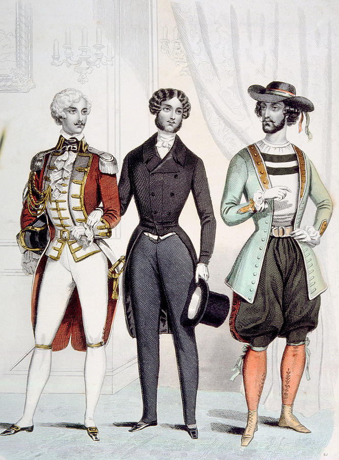 French Fashion For Men Circa 1885 Photograph By Everett