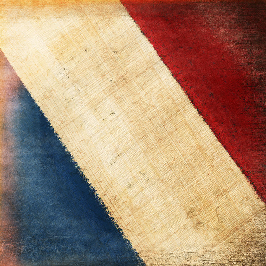 Aged Photograph - French Flag by Setsiri Silapasuwanchai