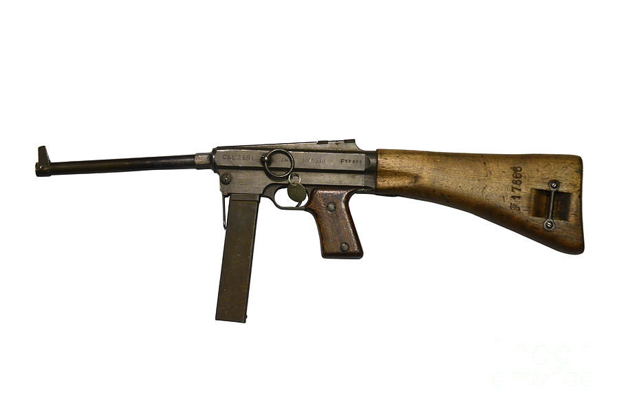 French Mas Model 38 Submachine Gun Photograph By Andrew
