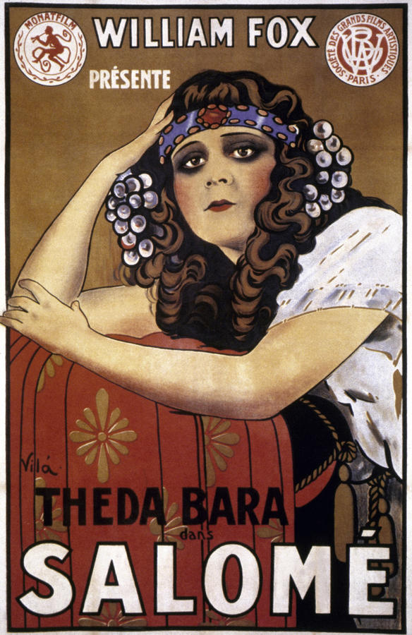 1918 Photograph - French Poster: Salome, 1918 by Granger