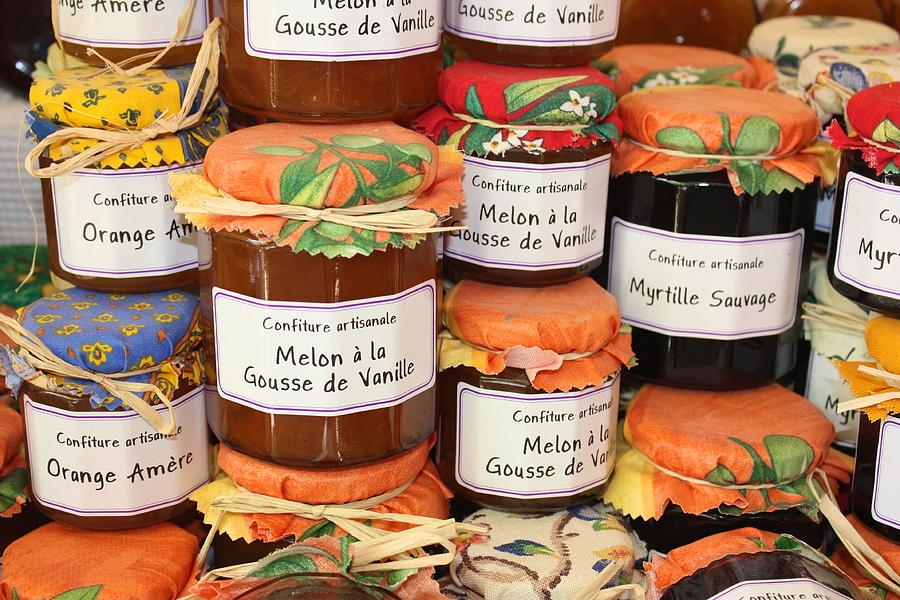 Jam. Marmalade Photograph - French Preserves by Yvonne Ayoub