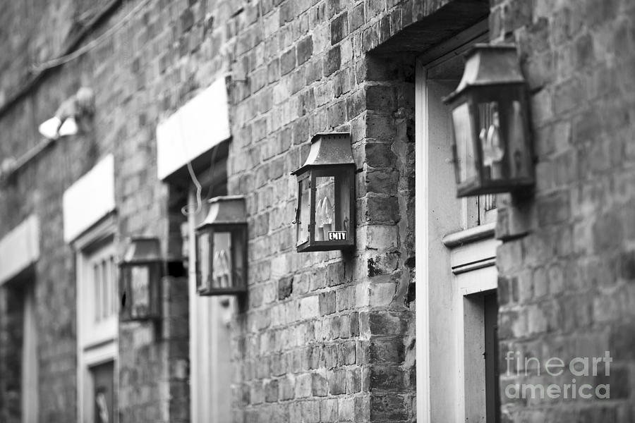 New Orleans Photograph - French Quarter Lamps by Leslie Leda