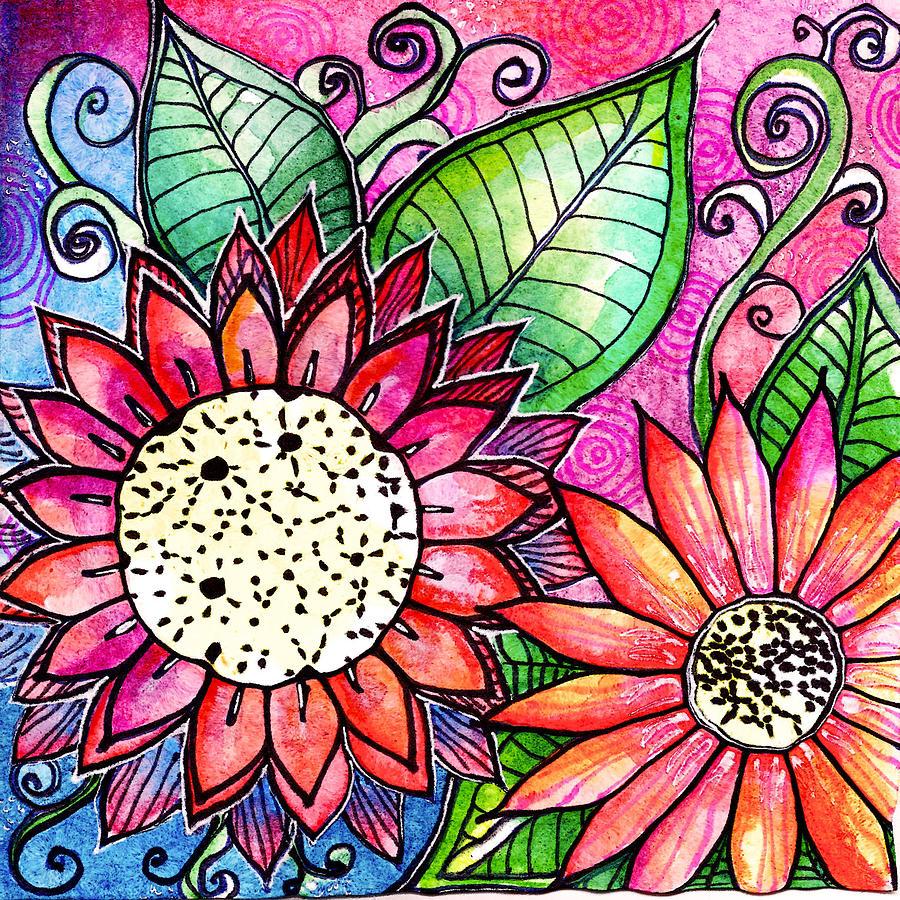 Flowers Painting - Fresch Cut by Robin Mead