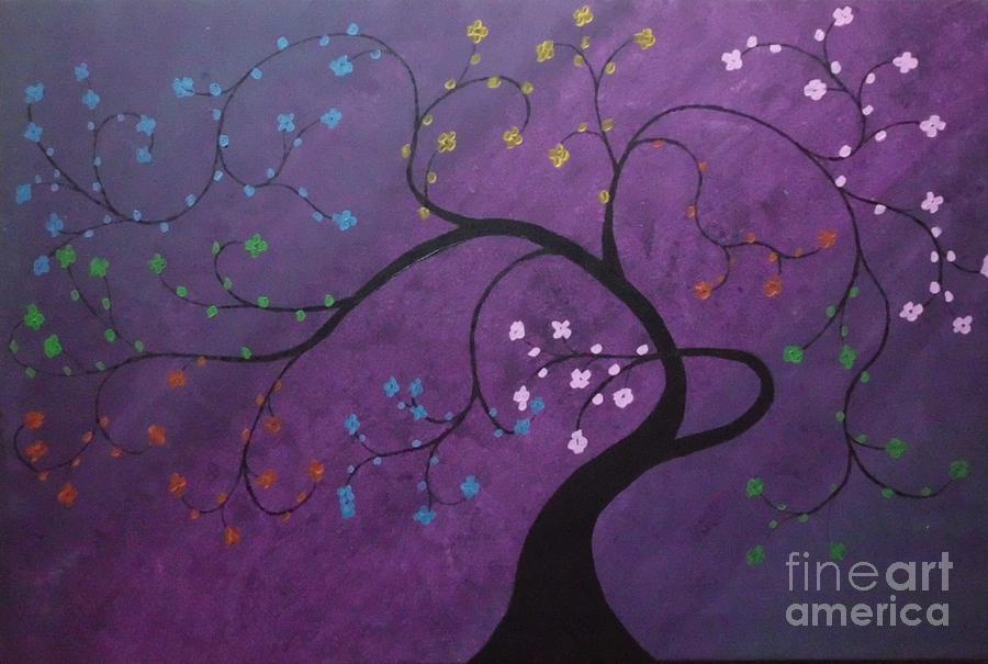 Tree Painting - Fresh Blooms by Dawn Plyler