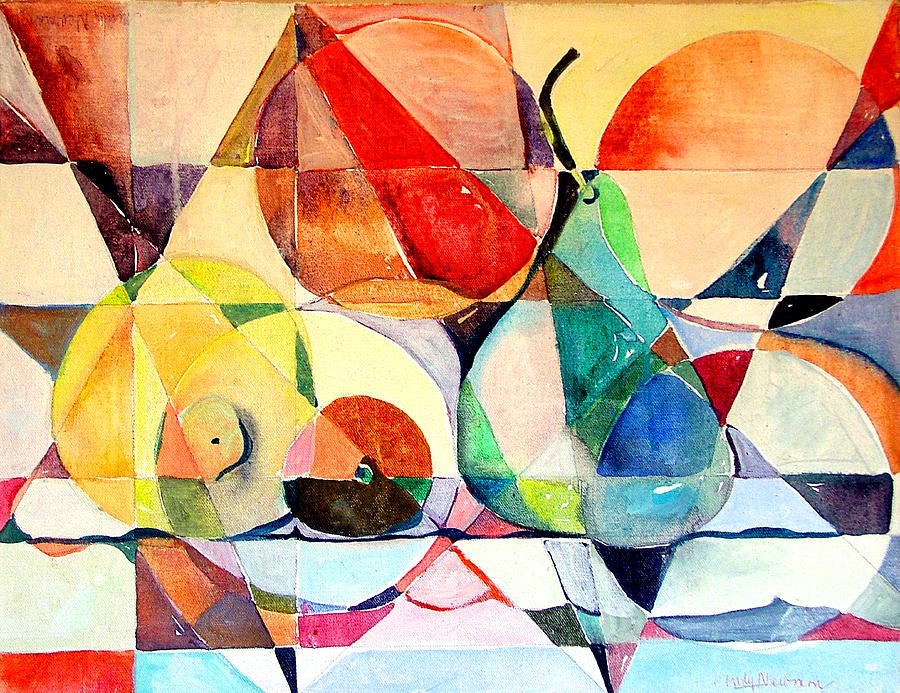 Abstract Painting - Fresh Fruit by Mindy Newman