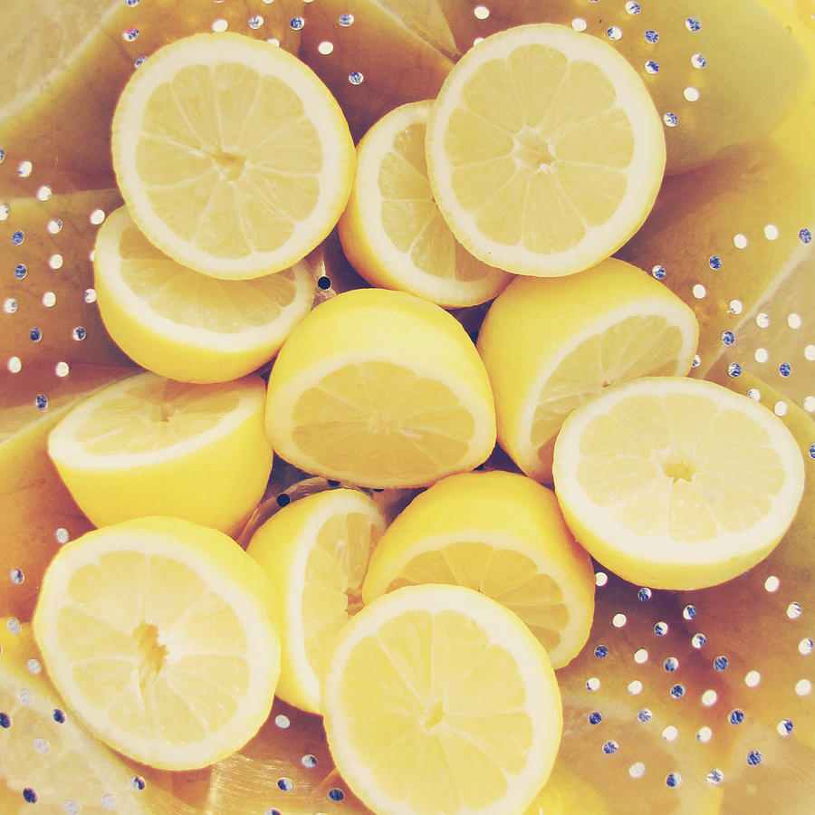 Lemon Photograph - Fresh Lemons by Amy Tyler