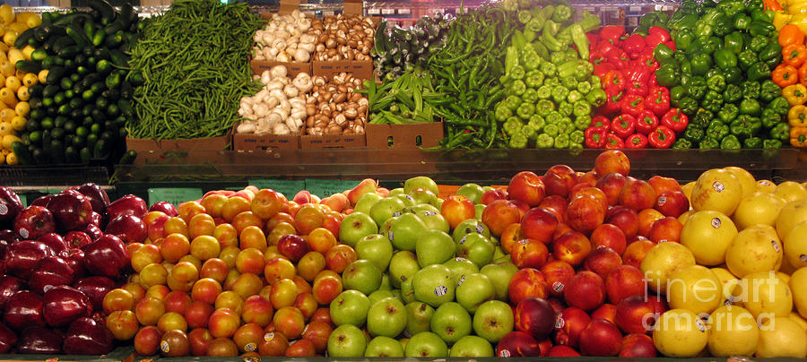 Fresh Market Photograph - Fresh Market Series. Bounty. by Ausra Huntington nee Paulauskaite