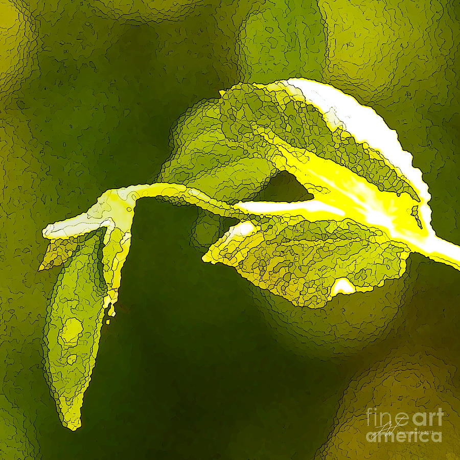 Peas Painting - Fresh Peas by Artist and Photographer Laura Wrede
