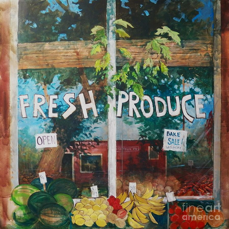 Fruit Painting - Fresh Produce by Micheal Jones