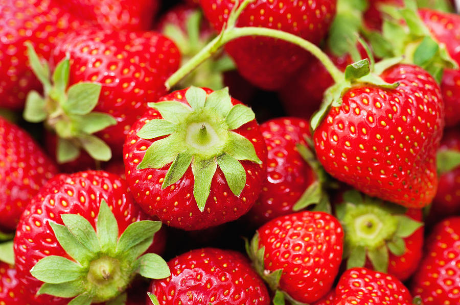 Agriculture Photograph - Fresh Strawberries by Marta Holka