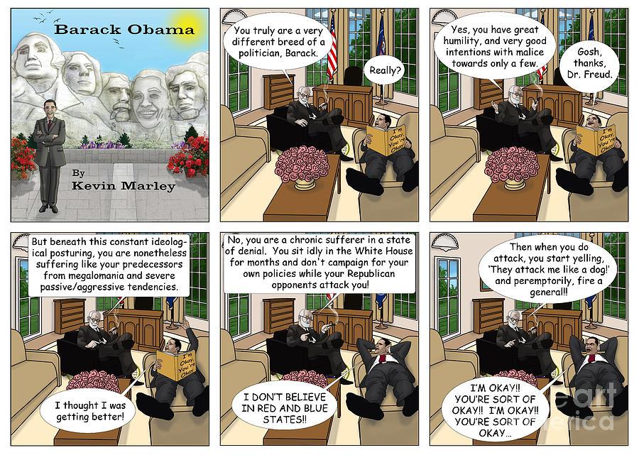 Barack  Obama Digital Art - Freud And His Diagnosis by Kevin  Marley