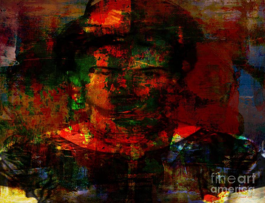 Frida In Mixed Media Mixed Media by Fania Simon