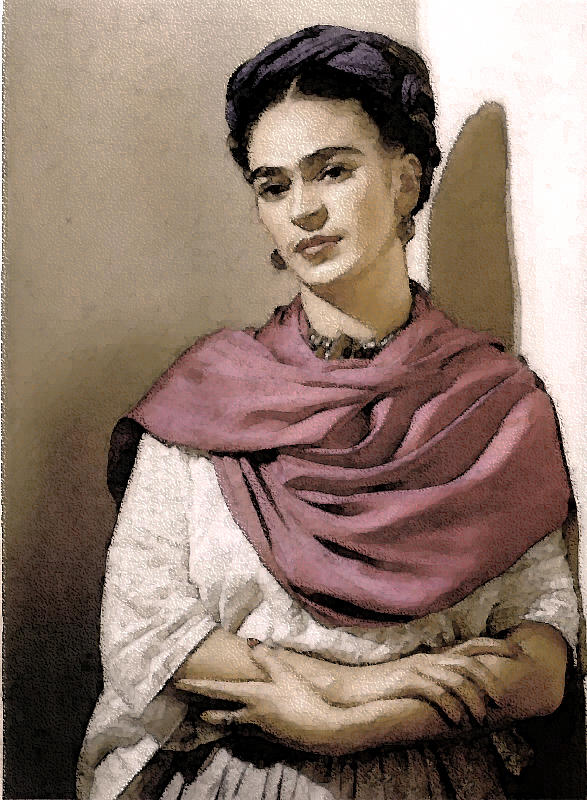 Expressive Photograph - Frida Interpreted 2 by Lenore Senior