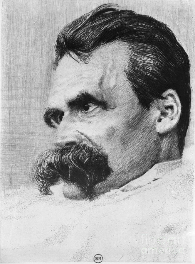 History Photograph - Friedrich Wilhelm Nietzsche, German by Photo Researchers