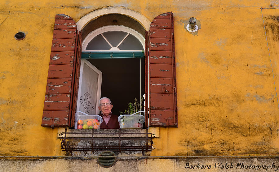 Venice Photograph - Friendly Man by Barbara Walsh