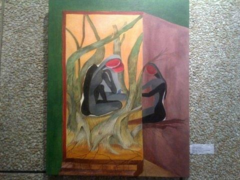 Friends Painting by Chitra Patnaik