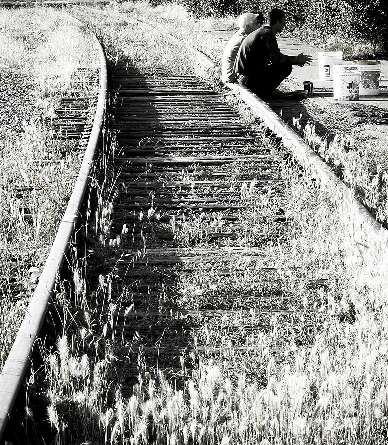 Railroad Tracks Photograph - Friendship by Leslie Hunziker