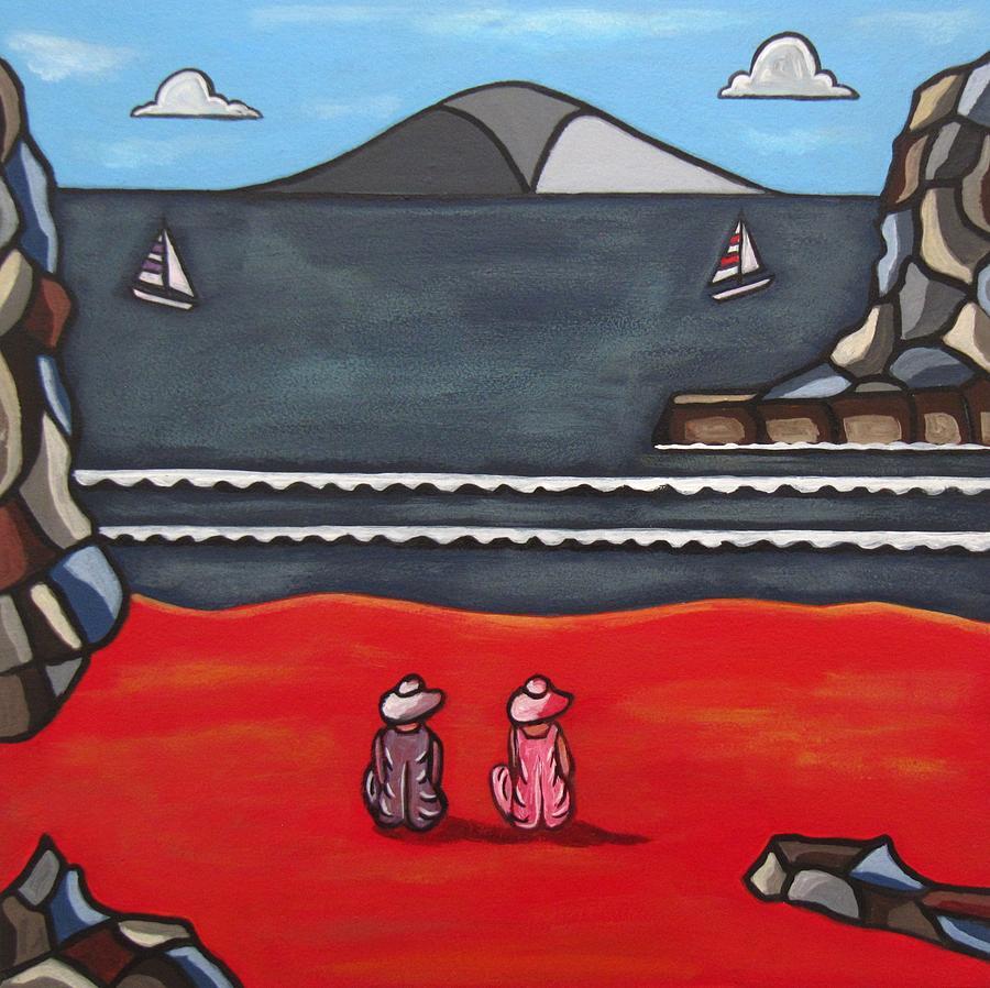Beach Scenes Painting - Friendship by Sandra Marie Adams