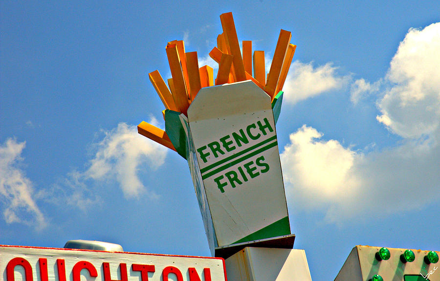 Logo Photograph - Fries In The Sky by Bruce Carpenter