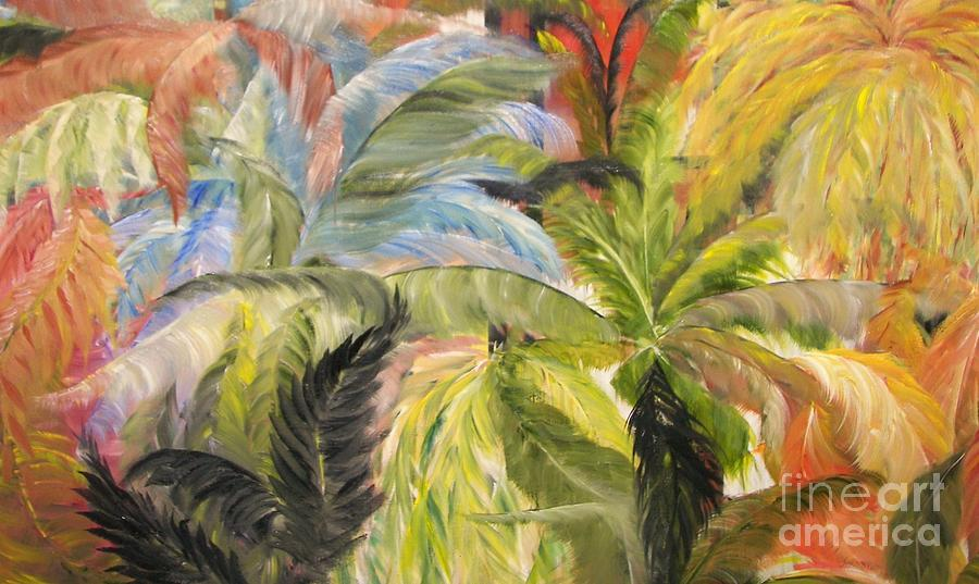Flowers Painting - Frolicking Ferns by Rachel Carmichael