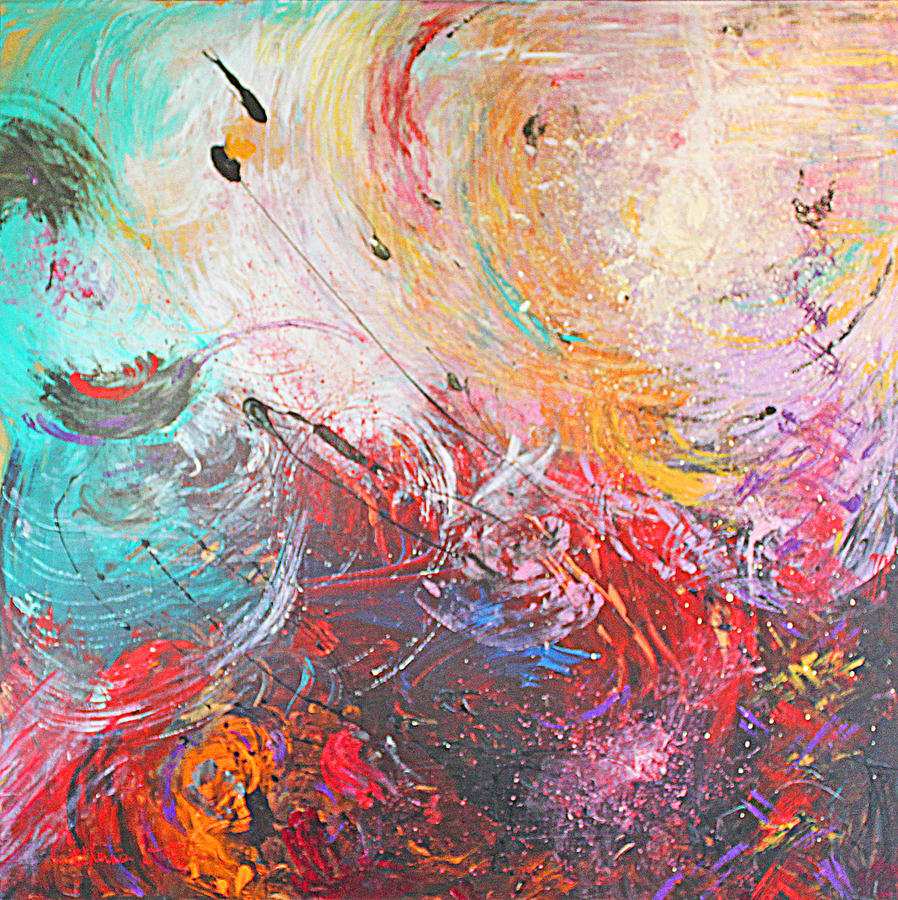 Painting Mixed Media - From Anger Into Light  by Catherine Foster