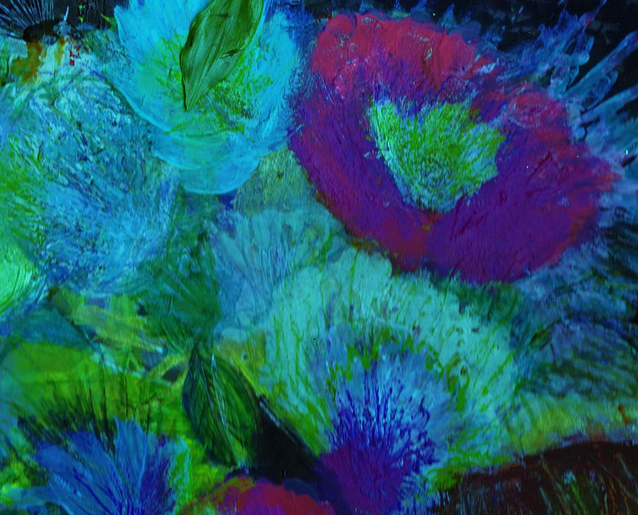 Flowers Mixed Media - From My Heart Of Rising  Passion by Anne-Elizabeth Whiteway