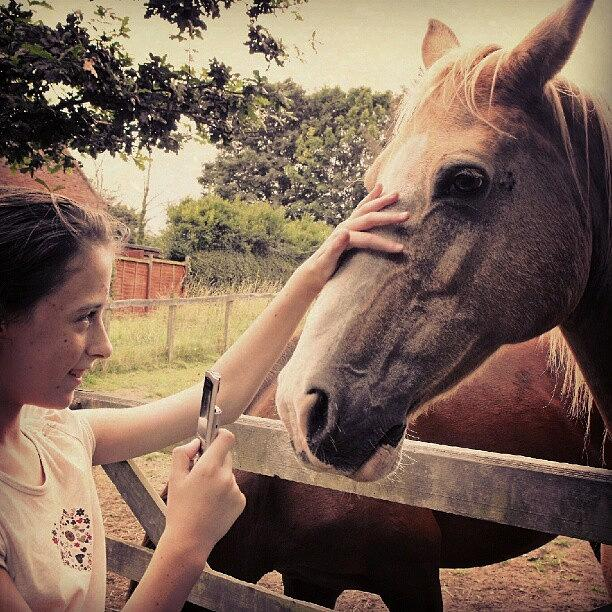 Beautiful Photograph - From Saturday.... #girl #horse #horses by Alexandra Cook