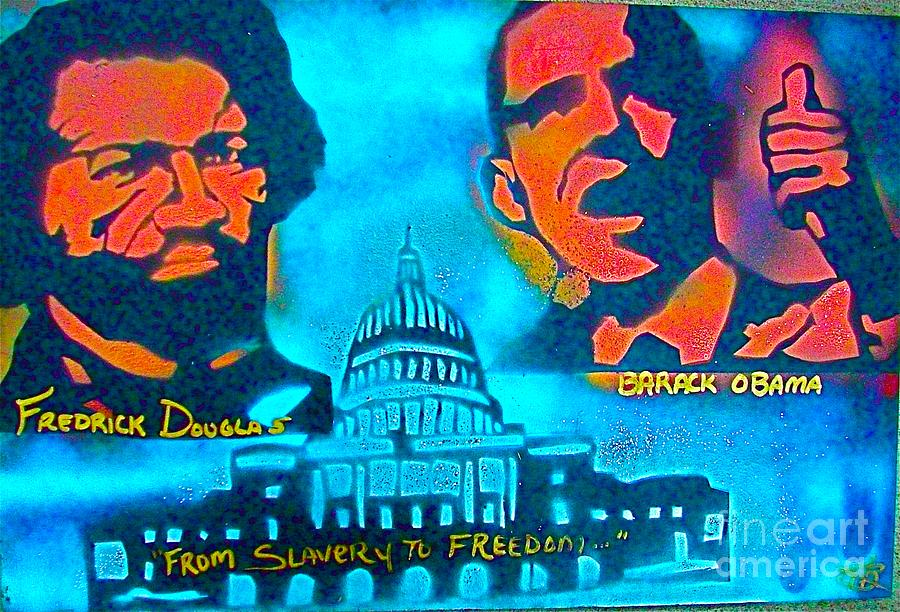 Barack Obama Painting - From Slavery To Freedom by Tony B Conscious