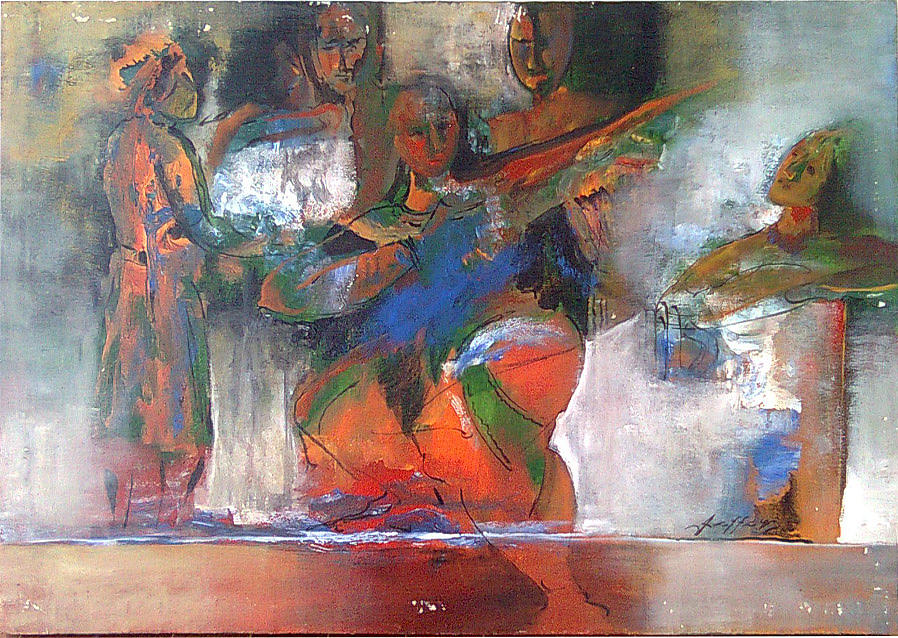 Abstract Painting - From The Epic by Jaffo Jaffer