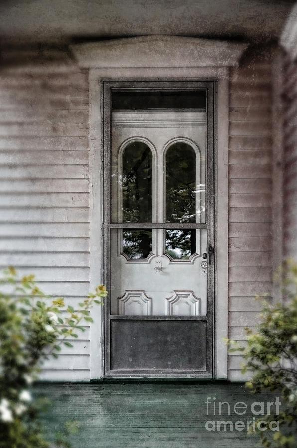 Gentil Door Photograph   Front Door Of Vintage House By Jill Battaglia