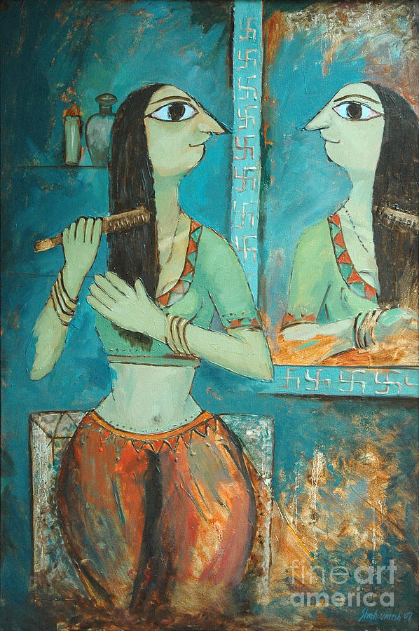 Front Of Mirror Painting By Umesh Shah