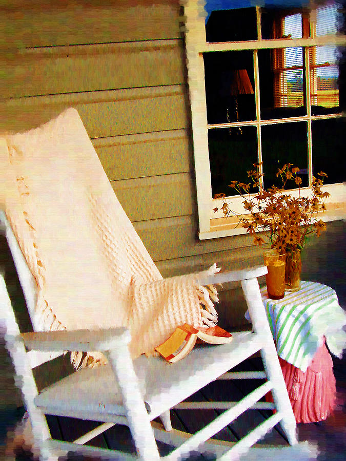 Rocking Chair Photograph - Front Porch Pleasures by Edie Kynard