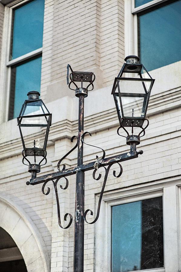 Street Light Photograph - Front Street Lamp by Brenda Bryant