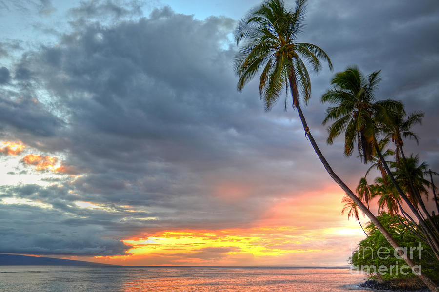 Lahaina Photograph - Front Street Sunset by Kelly Wade