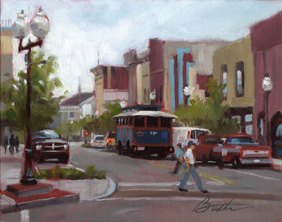 Street Painting - Front Street by Todd Baxter