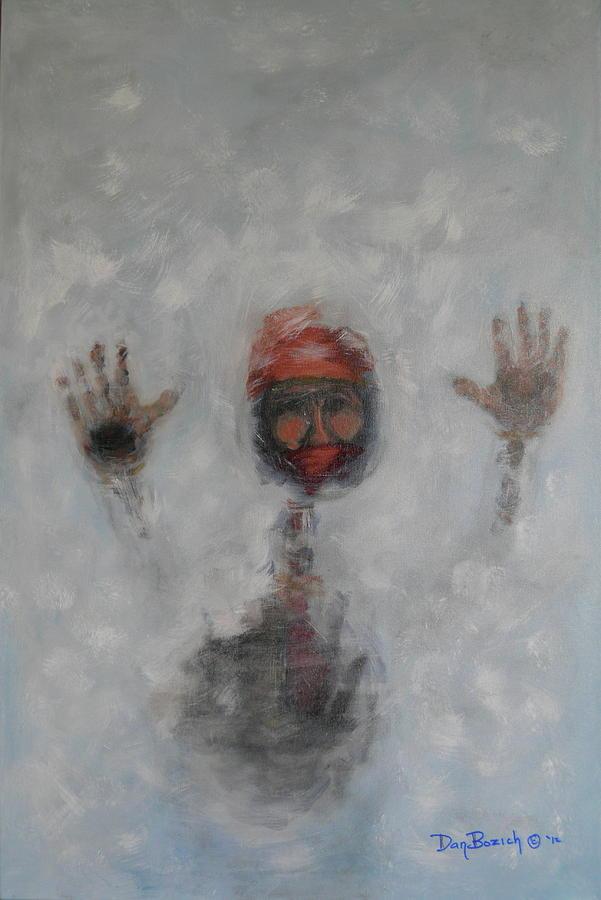 Winter Painting - Frosty Window by Dan Bozich