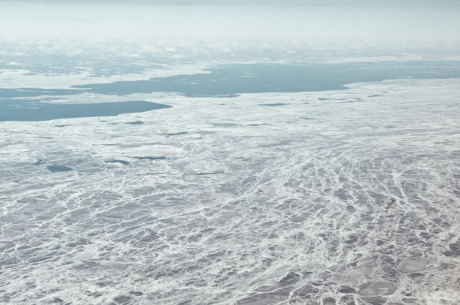 Horizontal Photograph - Frozen And Ice Covered Gulf Of Finland by Photography by Oleg Pulemjotov (Photogruff)