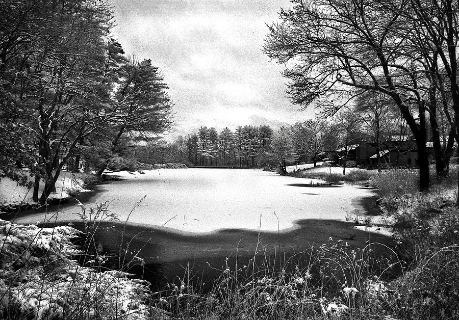 Infrared Photograph - Frozen Lake by Ercole Gaudioso