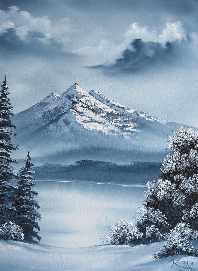 Mountain Painting - Frozen Mountain by Kevin Hill