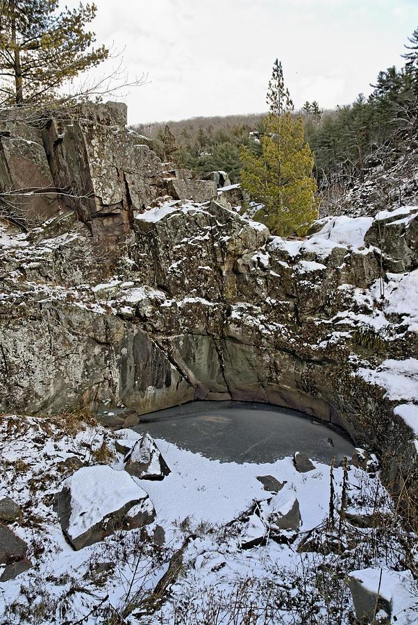 Americas Photograph - Frozen Sink Hole by Roderick Bley