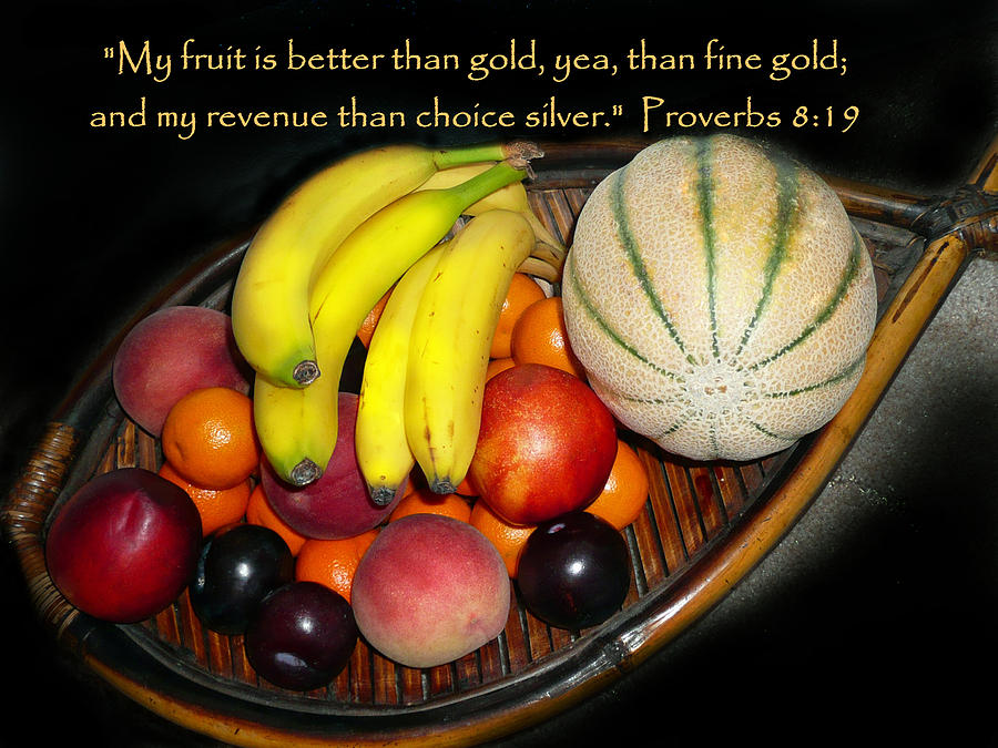 Cindy Photograph - Fruit And Proverbs 8 by Cindy Wright
