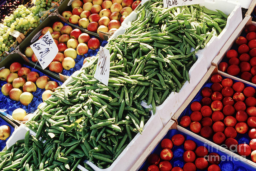 Abundance Photograph - Fruit And Vegetable Stand by Jeremy Woodhouse